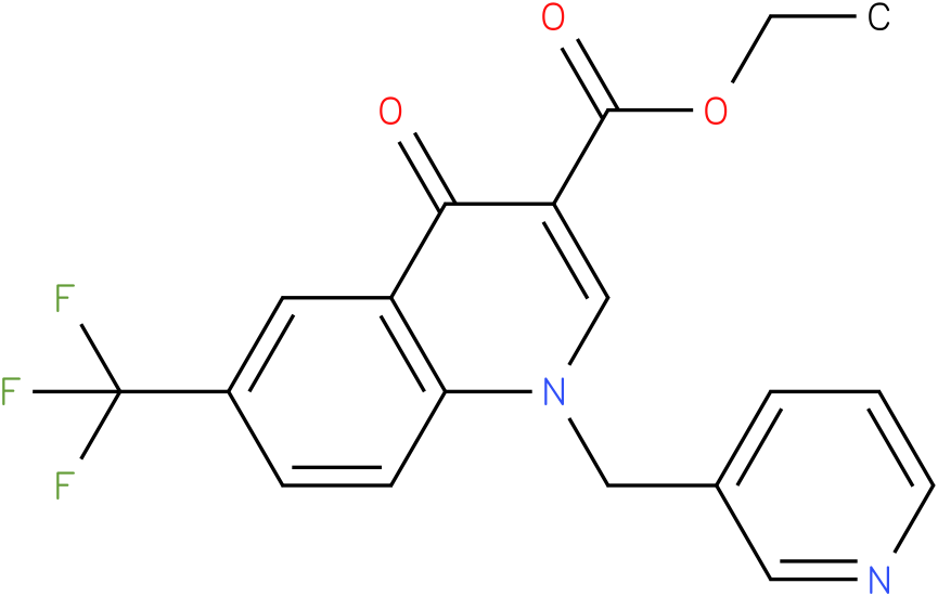 4-Oxo-1-pyridin-3-ylmethyl-6-trifluoromethyl-1,4-dihydro-quinoline-3-carboxylic acid ethyl ester
