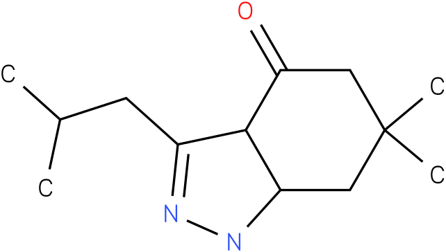 3-Isobutyl-6,6-dimethyl-1,3a,5,6,7,7a-hexahydro-indazol-4-one
