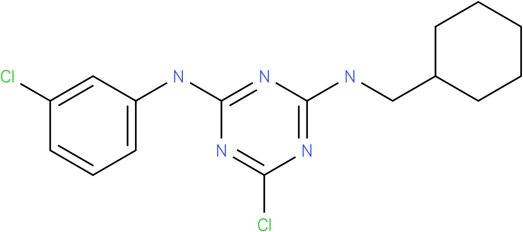 6-Chloro-N-(3-chloro-phenyl)-N'-cyclohexylmethyl-[1,3,5]triazine-2,4-diamine