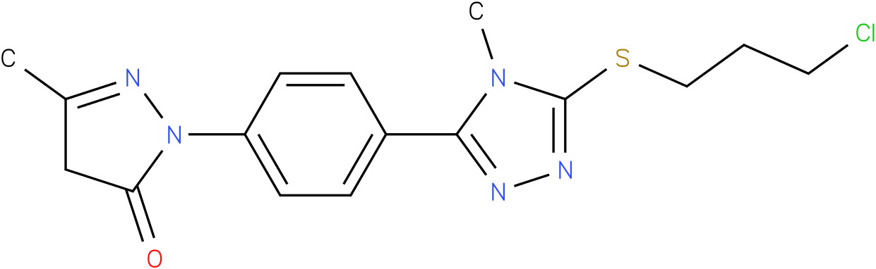 2-{4-[5-(3-Chloro-propylsulfanyl)-4-methyl-4H-[1,2,4]triazol-3-yl]-phenyl}-5-methyl-2,4-dihydro-pyrazol-3-one