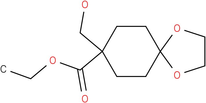 ethyl 8-(hydroxymethyl)-1,4-dioxaspiro[4.5]decane-8-carboxylate