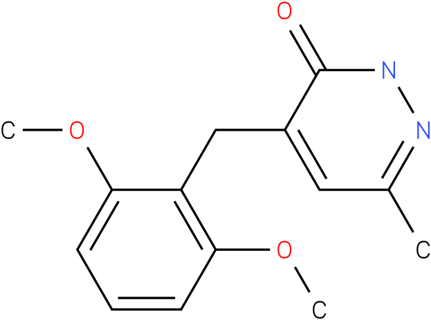 4-(2,6-Dimethoxy-benzyl)-6-methyl-2H-pyridazin-3-one