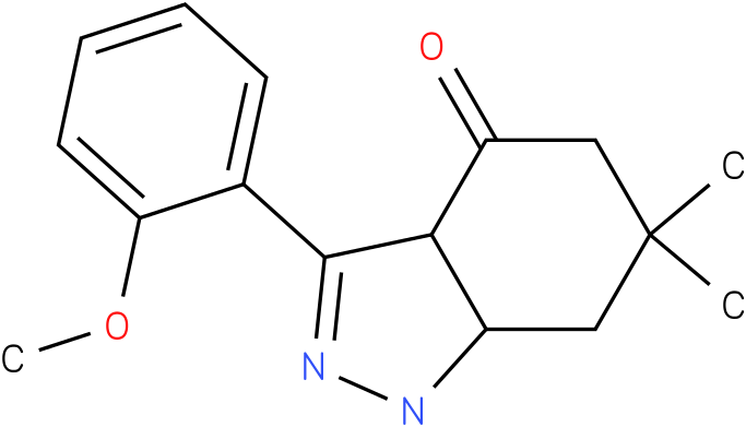 3-(2-Methoxy-phenyl)-6,6-dimethyl-1,3a,5,6,7,7a-hexahydro-indazol-4-one
