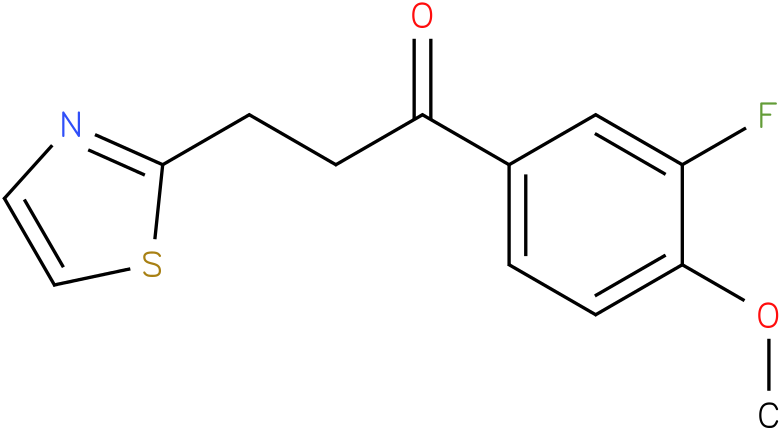 1-(3-Fluoro-4-methoxy-phenyl)-3-thiazol-2-yl-propan-1-one