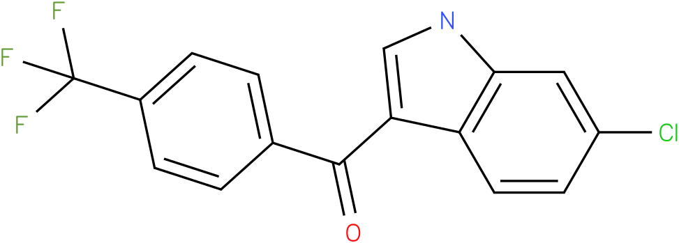 (6-Chloro-1H-indol-3-yl)-(4-trifluoromethyl-phenyl)-methanone