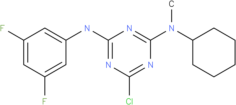 6-Chloro-N-cyclohexyl-N'-(3,5-difluoro-phenyl)-N-methyl-[1,3,5]triazine-2,4-diamine