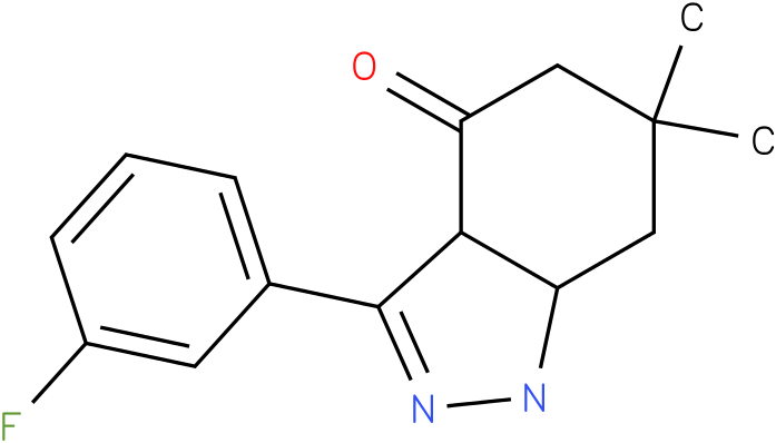 3-(3-Fluoro-phenyl)-6,6-dimethyl-1,3a,5,6,7,7a-hexahydro-indazol-4-one
