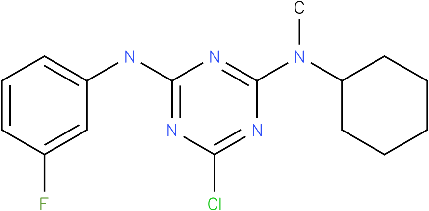 6-Chloro-N-cyclohexyl-N'-(3-fluoro-phenyl)-N-methyl-[1,3,5]triazine-2,4-diamine