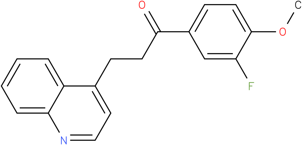 1-(3-Fluoro-4-methoxy-phenyl)-3-quinolin-4-yl-propan-1-one