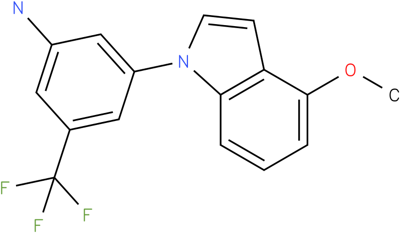3-(4-Methoxy-indol-1-yl)-5-trifluoromethyl-phenylamine