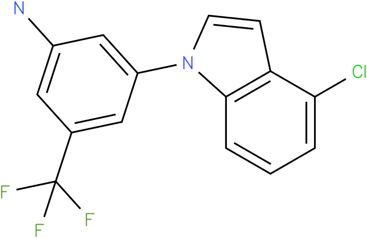 3-(4-Chloro-indol-1-yl)-5-trifluoromethyl-phenylamine