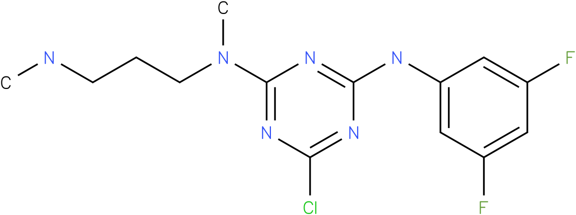 6-Chloro-N-(3,5-difluoro-phenyl)-N'-methyl-N'-(3-methylamino-propyl)-[1,3,5]triazine-2,4-diamine