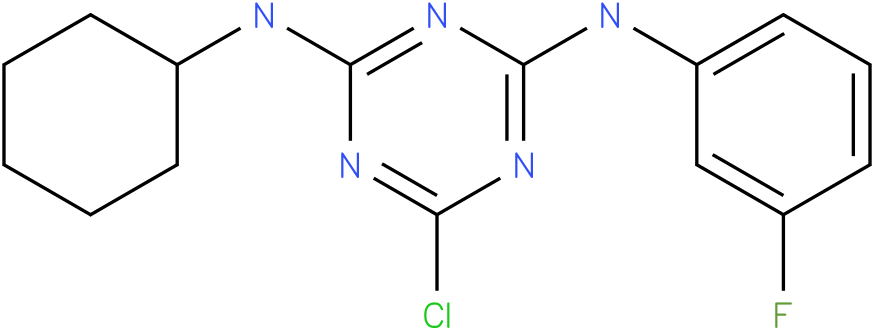 6-Chloro-N-cyclohexyl-N'-(3-fluoro-phenyl)-[1,3,5]triazine-2,4-diamine