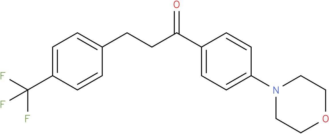 1-(4-Morpholin-4-yl-phenyl)-3-(4-trifluoromethyl-phenyl)-propan-1-one