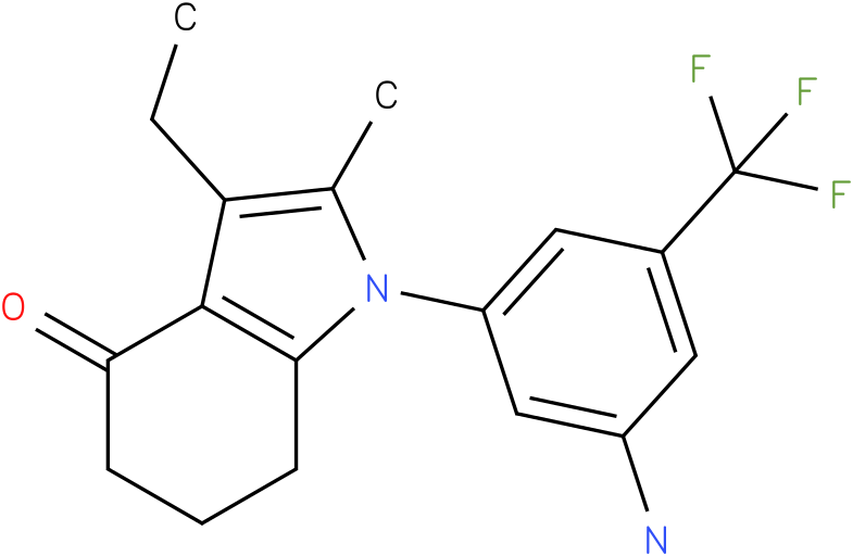 1-(3-Amino-5-trifluoromethyl-phenyl)-3-ethyl-2-methyl-1,5,6,7-tetrahydro-indol-4-one