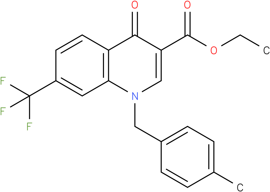 1-(4-Methyl-benzyl)-4-oxo-7-trifluoromethyl-1,4-dihydro-quinoline-3-carboxylic acid ethyl ester