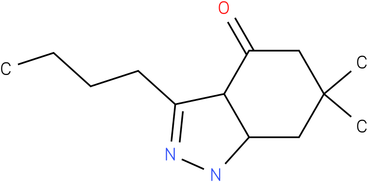 3-Butyl-6,6-dimethyl-1,3a,5,6,7,7a-hexahydro-indazol-4-one