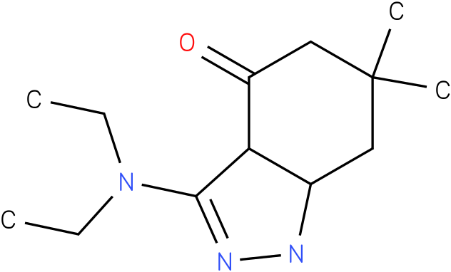 3-Diethylamino-6,6-dimethyl-1,3a,5,6,7,7a-hexahydro-indazol-4-one