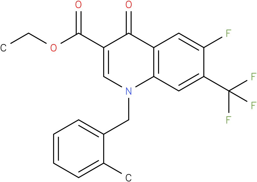 6-Fluoro-1-(2-methyl-benzyl)-4-oxo-7-trifluoromethyl-1,4-dihydro-quinoline-3-carboxylic acid ethyl ester