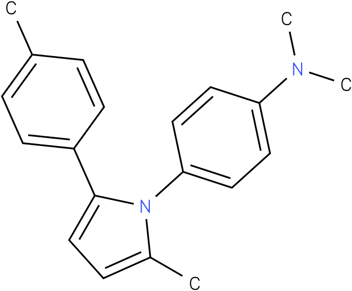 Dimethyl-[4-(2-methyl-5-p-tolyl-pyrrol-1-yl)-phenyl]-amine