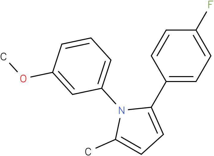 2-(4-Fluoro-phenyl)-1-(3-methoxy-phenyl)-5-methyl-1H-pyrrole