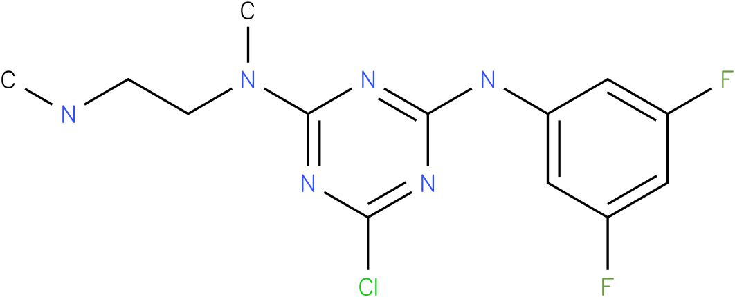 6-Chloro-N-(3,5-difluoro-phenyl)-N'-methyl-N'-(2-methylamino-ethyl)-[1,3,5]triazine-2,4-diamine