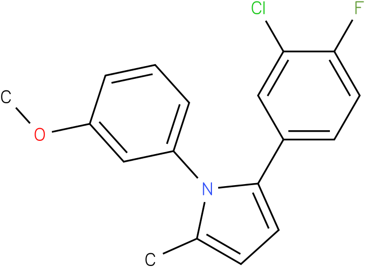 2-(3-Chloro-4-fluoro-phenyl)-1-(3-methoxy-phenyl)-5-methyl-1H-pyrrole
