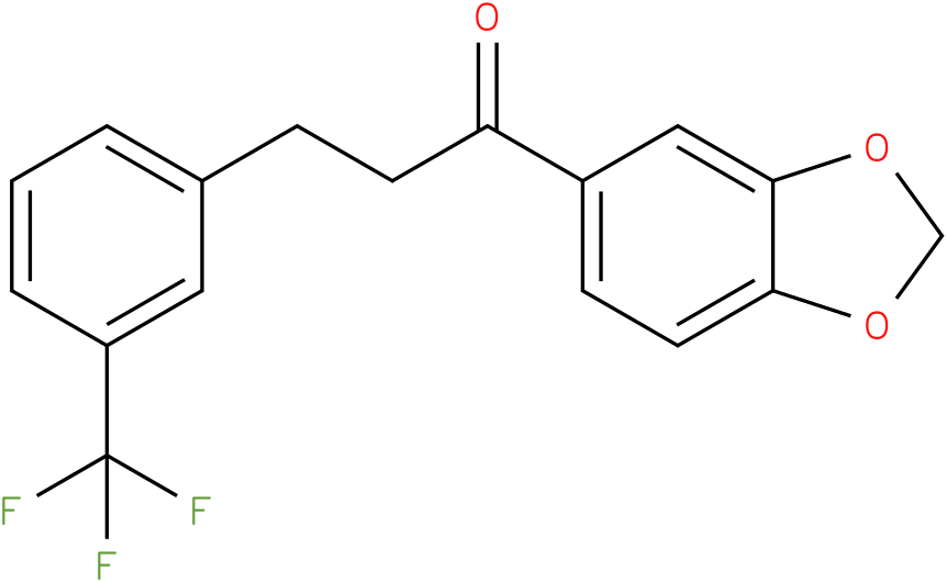 1-Benzo[1,3]dioxol-5-yl-3-(3-trifluoromethyl-phenyl)-propan-1-one