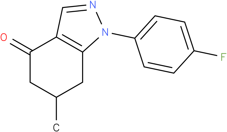 1-(4-Fluoro-phenyl)-6-methyl-1,5,6,7-tetrahydro-indazol-4-one