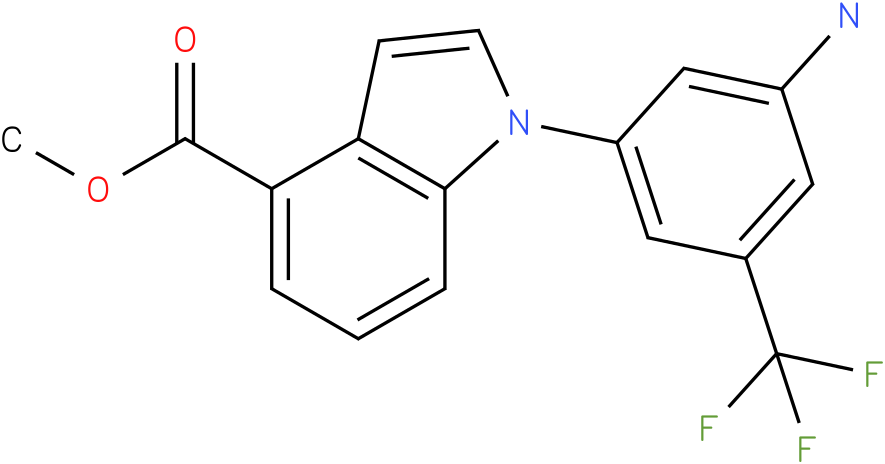 1-(3-Amino-5-trifluoromethyl-phenyl)-1H-indole-4-carboxylic acid methyl ester