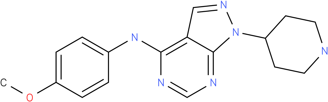 (4-Methoxy-phenyl)-(1-piperidin-4-yl-1H-pyrazolo[3,4-d]pyrimidin-4-yl)-amine