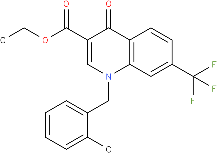 1-(2-Methyl-benzyl)-4-oxo-7-trifluoromethyl-1,4-dihydro-quinoline-3-carboxylic acid ethyl ester