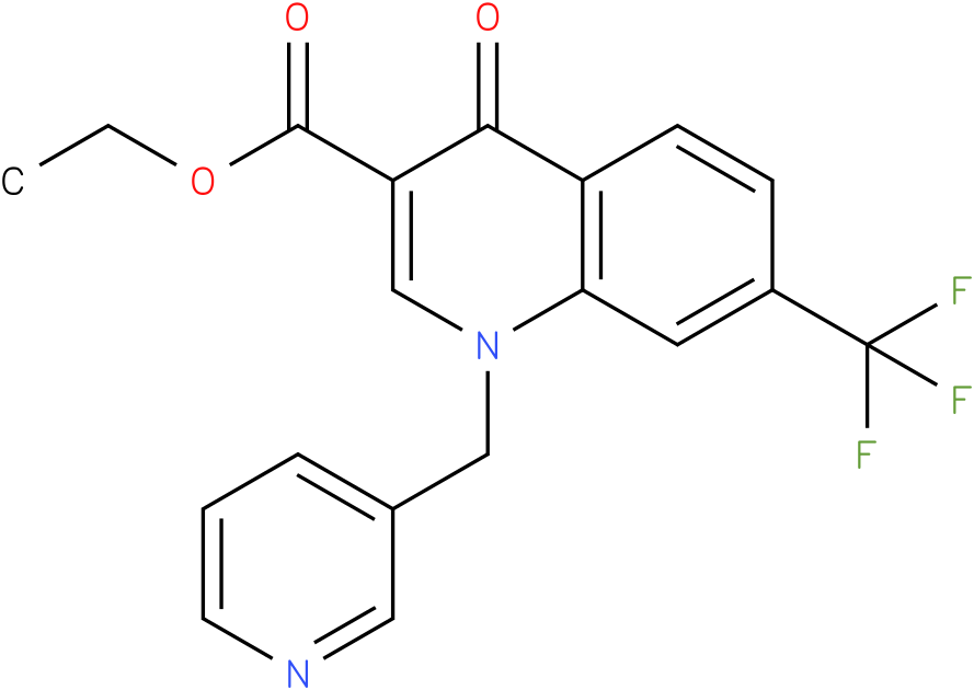 4-Oxo-1-pyridin-3-ylmethyl-7-trifluoromethyl-1,4-dihydro-quinoline-3-carboxylic acid ethyl ester