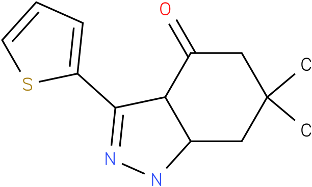 6,6-Dimethyl-3-thiophen-2-yl-1,3a,5,6,7,7a-hexahydro-indazol-4-one
