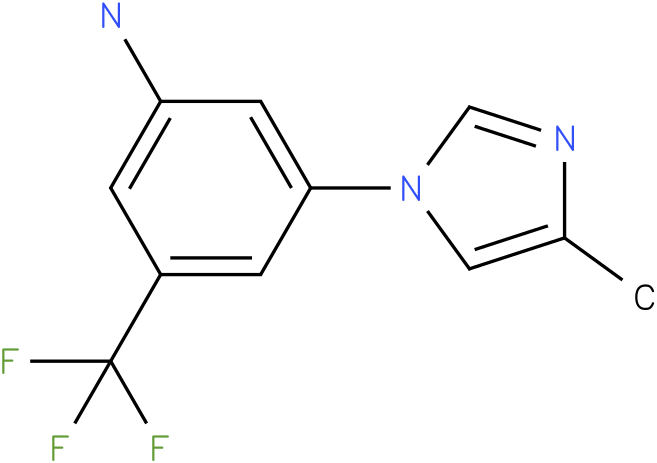 3-(trifluoromethyl)-5-(4-methyl-1H-imidazol-1-yl)benzenamine