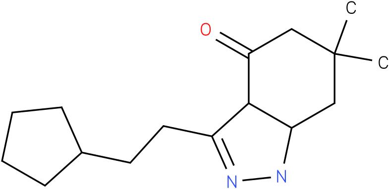 3-(2-Cyclopentyl-ethyl)-6,6-dimethyl-1,3a,5,6,7,7a-hexahydro-indazol-4-one