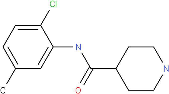 Piperidine-4-carboxylic acid (2-chloro-5-methyl-phenyl)-amide