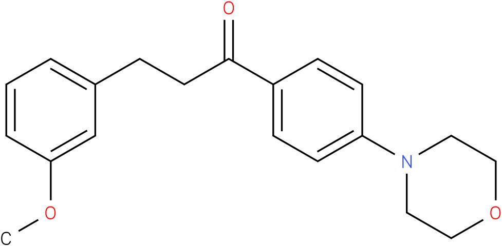 3-(3-Methoxy-phenyl)-1-(4-morpholin-4-yl-phenyl)-propan-1-one
