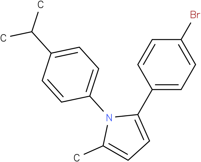2-(4-Bromo-phenyl)-1-(4-isopropyl-phenyl)-5-methyl-1H-pyrrole