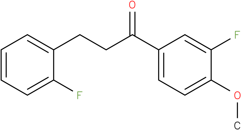 1-(3-Fluoro-4-methoxy-phenyl)-3-(2-fluoro-phenyl)-propan-1-one
