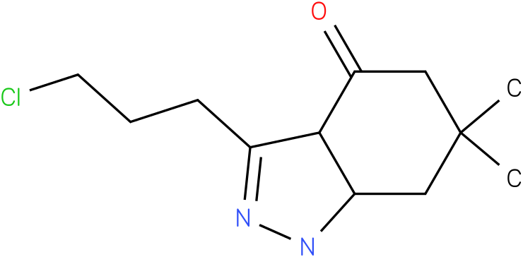 3-(3-Chloro-propyl)-6,6-dimethyl-1,3a,5,6,7,7a-hexahydro-indazol-4-one