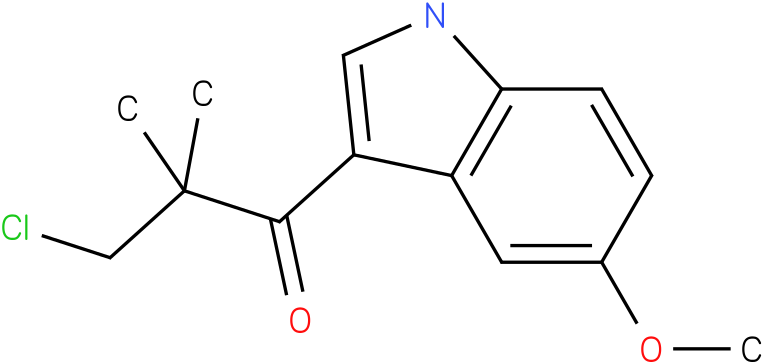 3-Chloro-1-(5-methoxy-1H-indol-3-yl)-2,2-dimethyl-propan-1-one