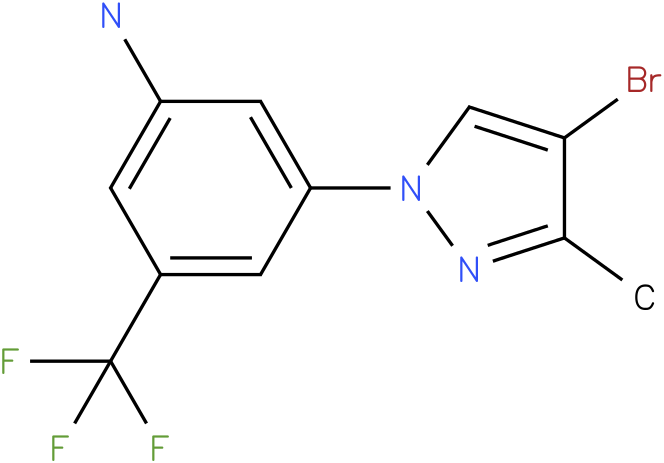 3-(4-Bromo-3-methyl-pyrazol-1-yl)-5-trifluoromethyl-phenylamine