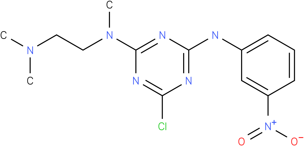 6-Chloro-N-(2-dimethylamino-ethyl)-N-methyl-N'-(3-nitro-phenyl)-[1,3,5]triazine-2,4-diamine