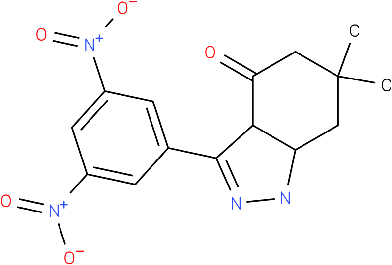 3-(3,5-Dinitro-phenyl)-6,6-dimethyl-1,3a,5,6,7,7a-hexahydro-indazol-4-one