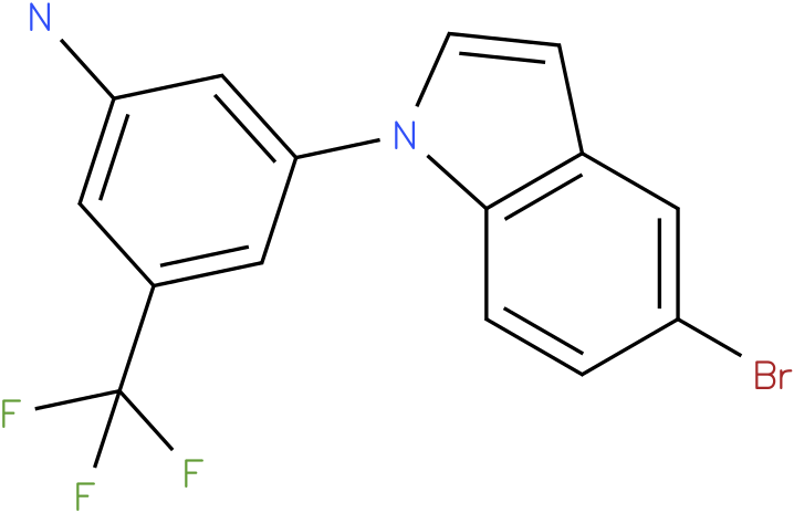 3-(5-Bromo-indol-1-yl)-5-trifluoromethyl-phenylamine