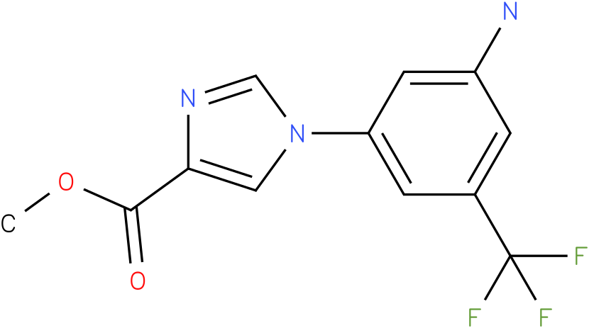 1-(3-Amino-5-trifluoromethyl-phenyl)-1H-imidazole-4-carboxylic acid methyl ester