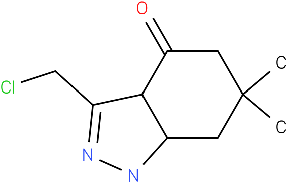 3-Chloromethyl-6,6-dimethyl-1,3a,5,6,7,7a-hexahydro-indazol-4-one