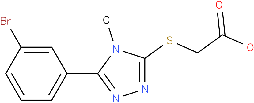 [5-(3-Bromo-phenyl)-4-methyl-4H-[1,2,4]triazol-3-ylsulfanyl]-acetic acid