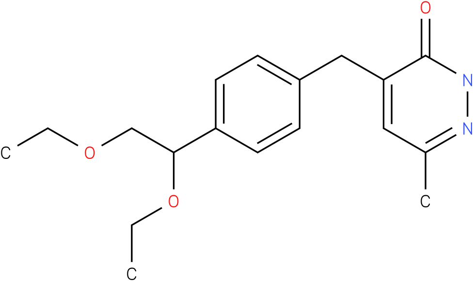 4-[4-(1,2-Diethoxy-ethyl)-benzyl]-6-methyl-2H-pyridazin-3-one